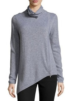 Neiman Marcus Cashmere Asymmetric Turtleneck Sweater