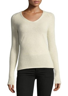Neiman Marcus Cashmere Basic Pullover Sweater