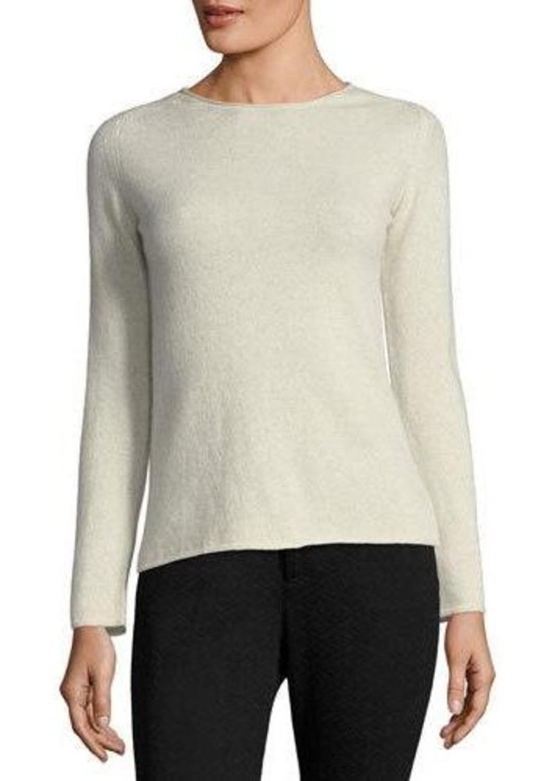 Neiman Marcus Neiman Marcus Cashmere Basic Pullover Sweater ...