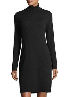 Neiman Marcus Cashmere Basic Turtleneck Dress