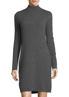 Neiman Marcus Cashmere Basic Turtleneck Dress