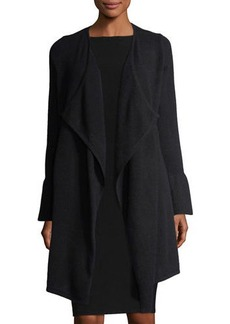 Neiman Marcus Cashmere Bell-Sleeve Cardigan