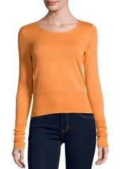 Neiman Marcus Cashmere Collection Cashmere-Blend Cropped Top