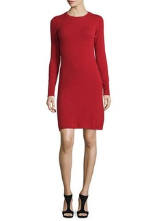 Neiman Marcus Cashmere Collection Cashmere Crewneck Sweater Dress