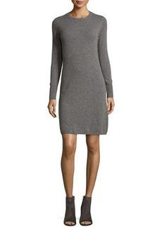 Neiman Marcus Cashmere Collection Cashmere Crewneck Sweater Dress
