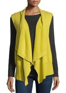 Neiman Marcus Cashmere Collection Cashmere Draped Vest
