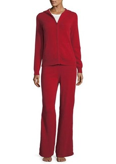 Neiman Marcus Cashmere Collection Cashmere Hoodie & Pant Lounge Set
