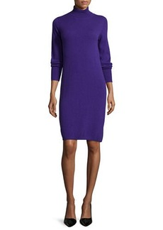 Neiman Marcus Cashmere Collection Cashmere Long-Sleeve Turtleneck Dress