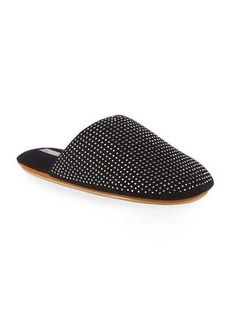Neiman Marcus Cashmere Collection Cashmere Rhinestone-Studded Slippers