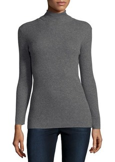 Neiman Marcus Cashmere Collection Cashmere Ribbed Turtleneck