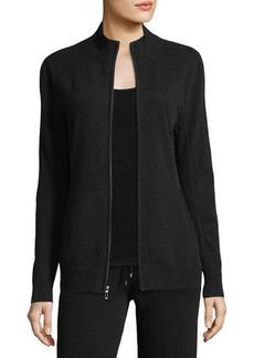 Neiman Marcus Cashmere Collection Cashmere Zip-Front Jacket