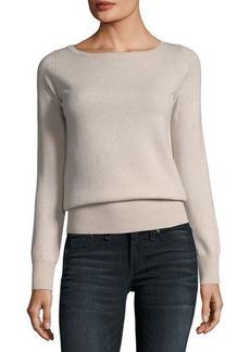 Neiman Marcus Cashmere Collection Classic Cashmere Bateau-Neck Sweater