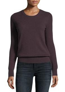 Neiman Marcus Cashmere Collection Classic Cashmere Crewneck Sweater