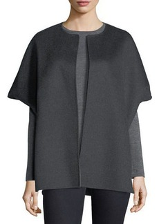 Neiman Marcus Cashmere Collection Luxury Double-Faced Cashmere Cocoon Coat