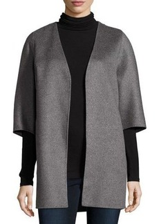 Neiman Marcus Cashmere Collection Double-Faced Cashmere Cocoon Coat