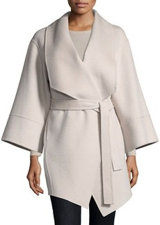 Neiman Marcus Cashmere Collection Luxury Double-Faced Cashmere Kimono Wrap Coat