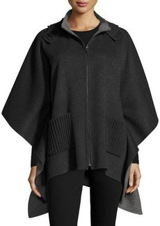 Neiman Marcus Cashmere Collection Double-Faced Hooded Cashmere Cape