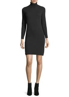 Neiman Marcus Long-Sleeve Turtleneck Cashmere Dress