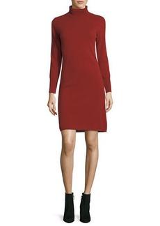 Neiman Marcus Cashmere Collection Long-Sleeve Turtleneck Cashmere Dress