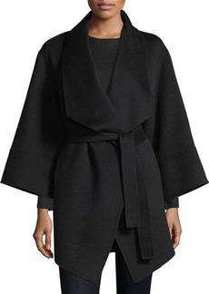 Neiman Marcus Cashmere Collection Luxury Double-Faced Cashmere Kimono Wrap Coat