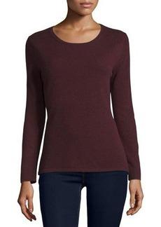 Neiman Marcus Cashmere Collection Modern Cashmere Crewneck Sweater