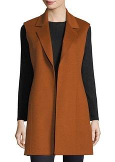 Neiman Marcus Cashmere Collection Luxury Notched Double-Face Cashmere Vest