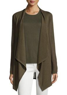 Neiman Marcus Cashmere Collection Piqué-Knit Cashmere Cardigan