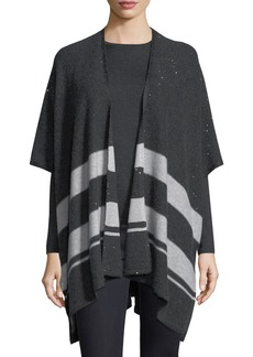 Neiman Marcus Cashmere Collection Sequin Striped Cashmere Shawl