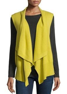 Neiman Marcus Cashmere Collection Sleeveless Draped Cashmere Vest