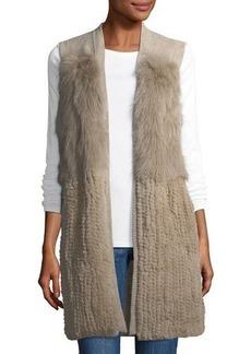 Neiman Marcus Cashmere Fox Fur Vest