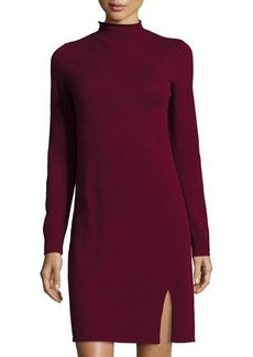 Neiman Marcus Cashmere Funnel-Neck Dress