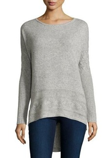 Neiman Marcus Cashmere High-Low Tunic Sweater
