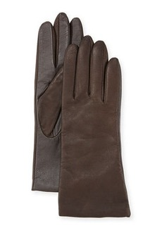 Neiman Marcus Cashmere-Lined Leather Tech Gloves