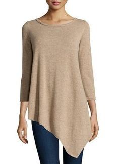 Neiman Marcus Cashmere Long-Sleeve Tunic Sweater