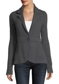 Neiman Marcus Cashmere One-Button Blazer