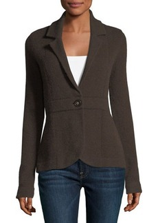 Neiman Marcus Cashmere One-Button Blazer