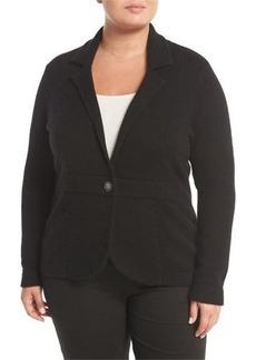 Neiman Marcus Cashmere One-Button Blazer Jacket