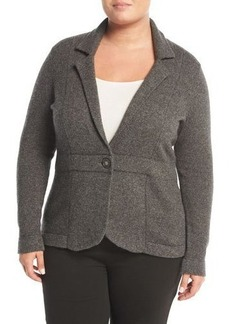 Neiman Marcus Cashmere One-Button Blazer Jacket