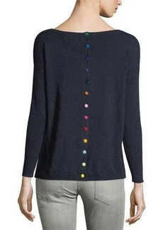 Neiman Marcus Cashmere Pocket Sweater