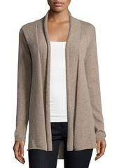 Neiman Marcus Cashmere Pointelle High-Low Cardigan