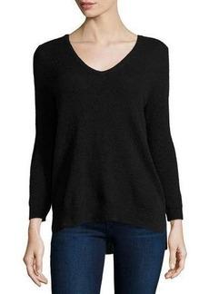 Neiman Marcus Cashmere V-Neck Basic Sweater