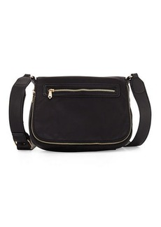 Neiman Marcus Charlie Nylon Messenger Crossbody Bag