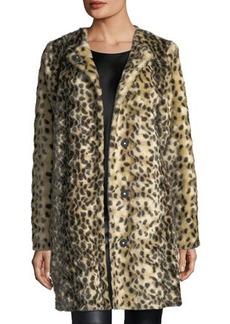 Neiman Marcus Cheetah-Print Faux-Fur Jacket