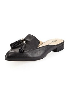 Neiman Marcus Chevy Leather Flat Mule