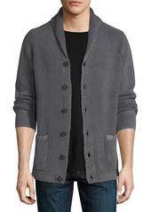 Neiman Marcus Chunky Shawl Button Cardigan Sweater