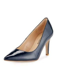 Neiman Marcus Cissy Patent Leather Pointed-Toe Pump