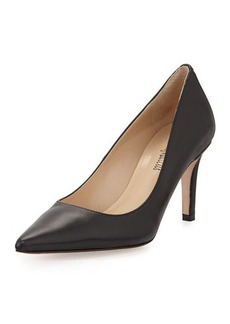 Neiman Marcus Cissy Pointed-Toe Leather Pump
