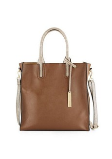 Neiman Marcus Citi Faux-Leather Tote Bag with Stingray Handles