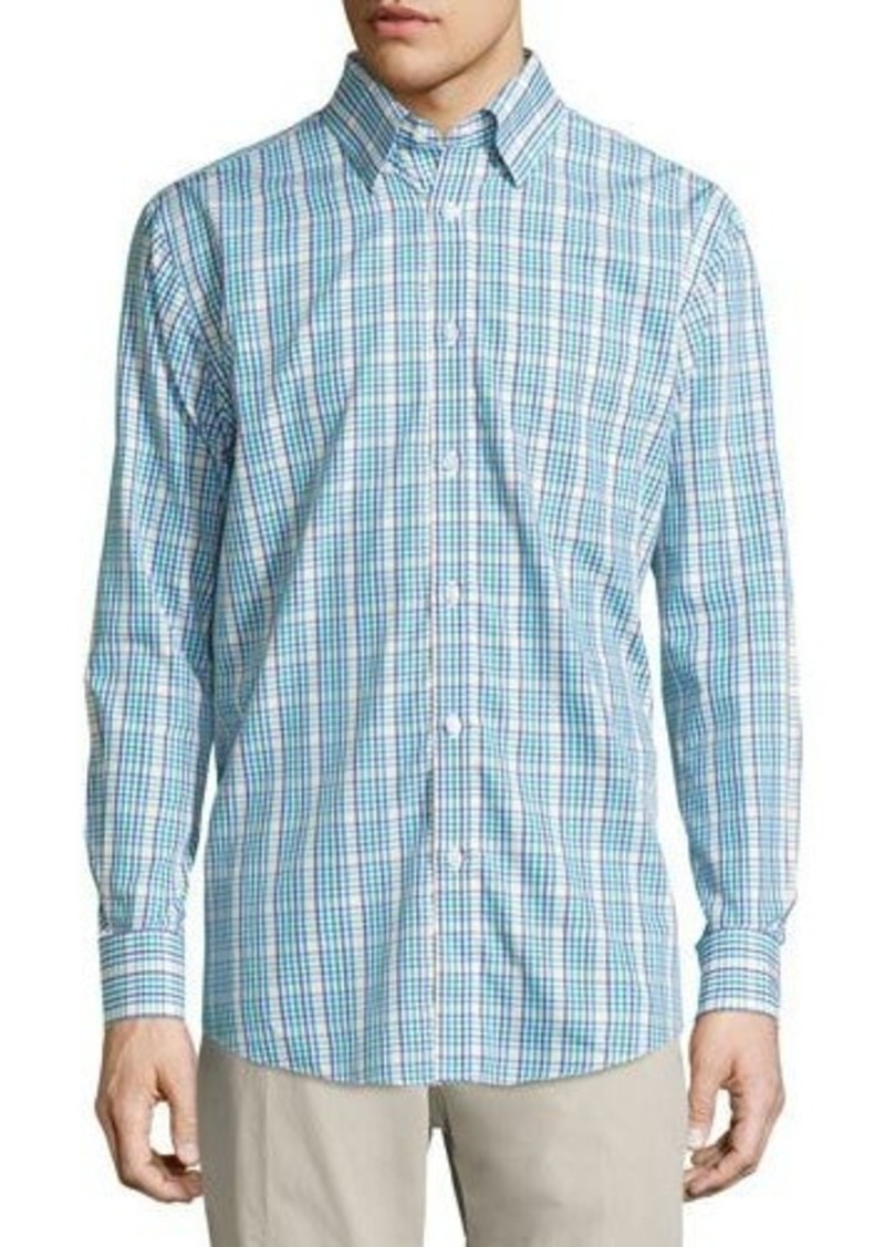 Neiman Marcus Classic-Fit Non-Iron Check Sport Shirt