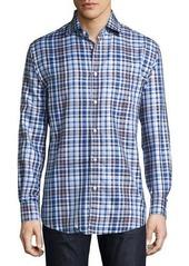 Neiman Marcus Classic-Fit Non-Iron Plaid Sport Shirt